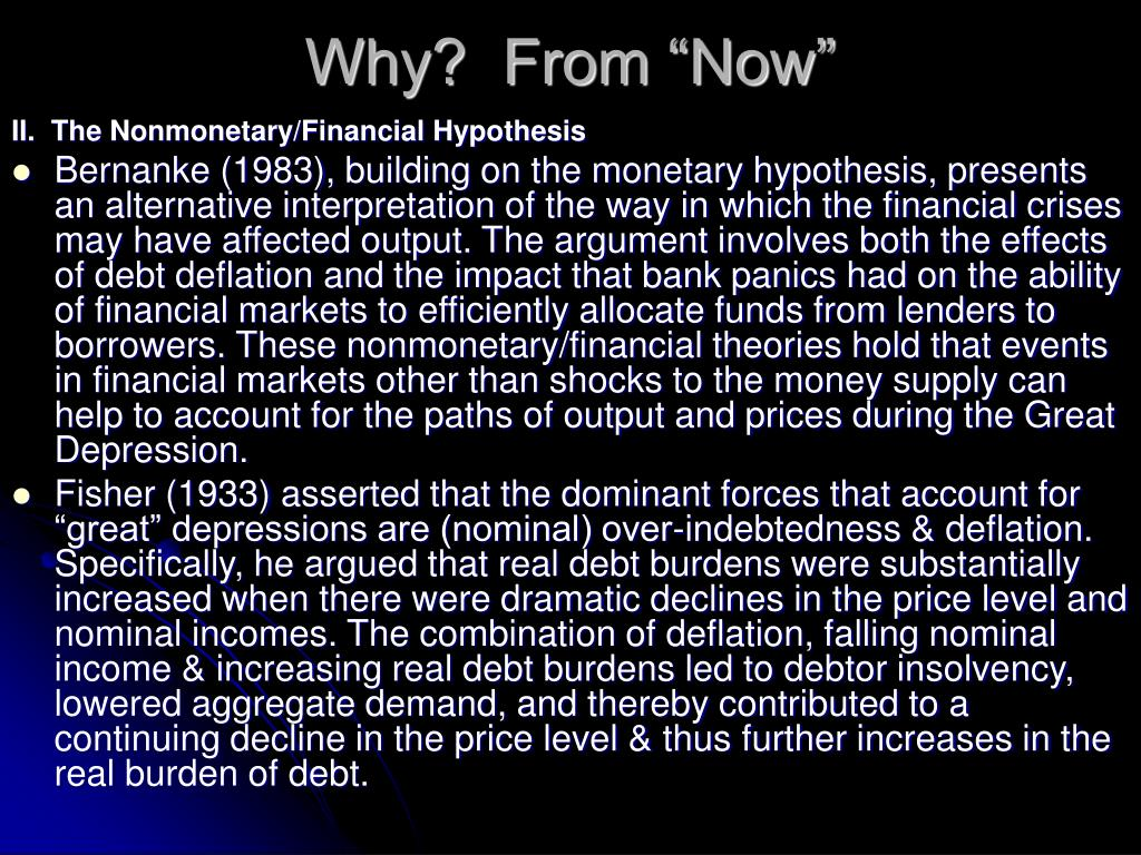 "Why?  From ""Now"""