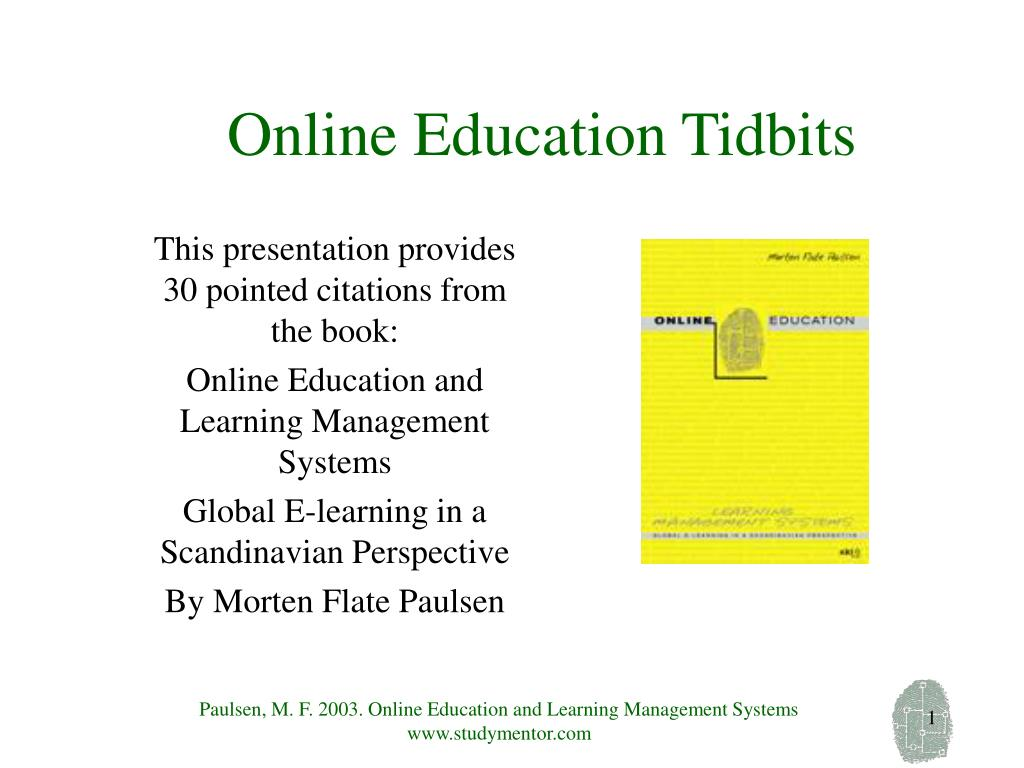 online education tidbits