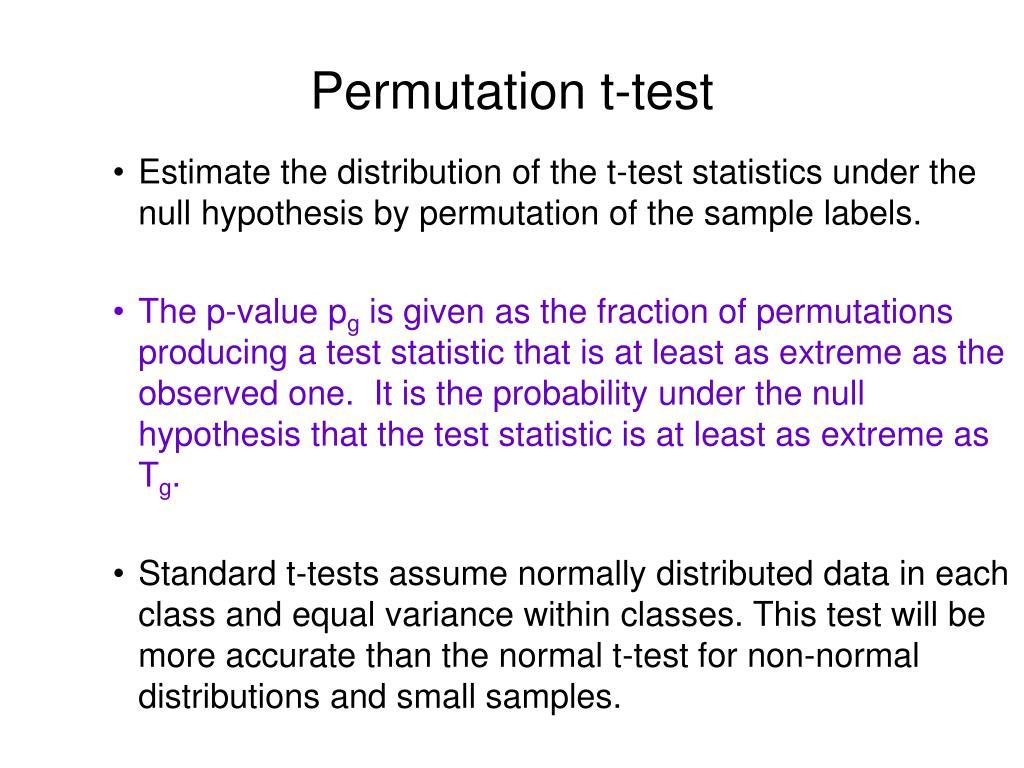 Permutation t-test