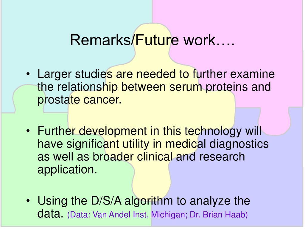 Remarks/Future work….