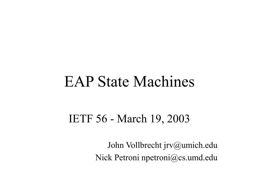 eap state machines l.