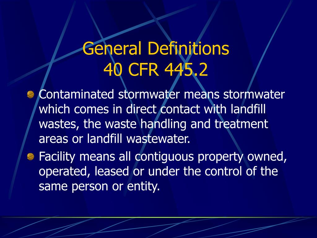 General Definitions