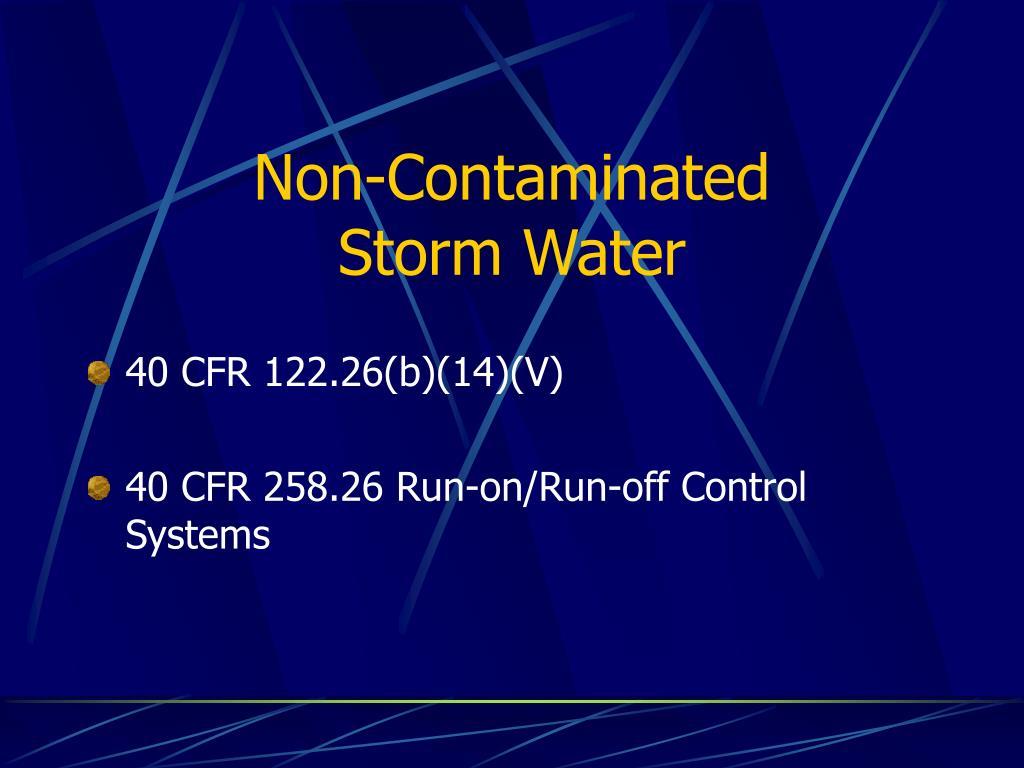 Non-Contaminated