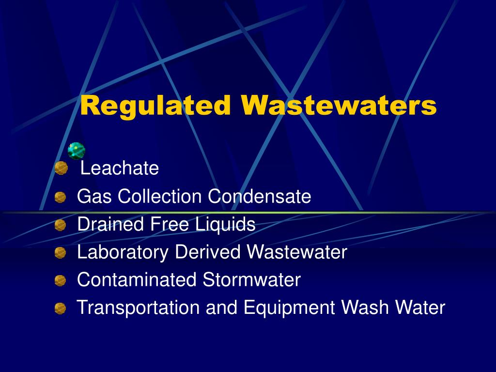 Regulated Wastewaters