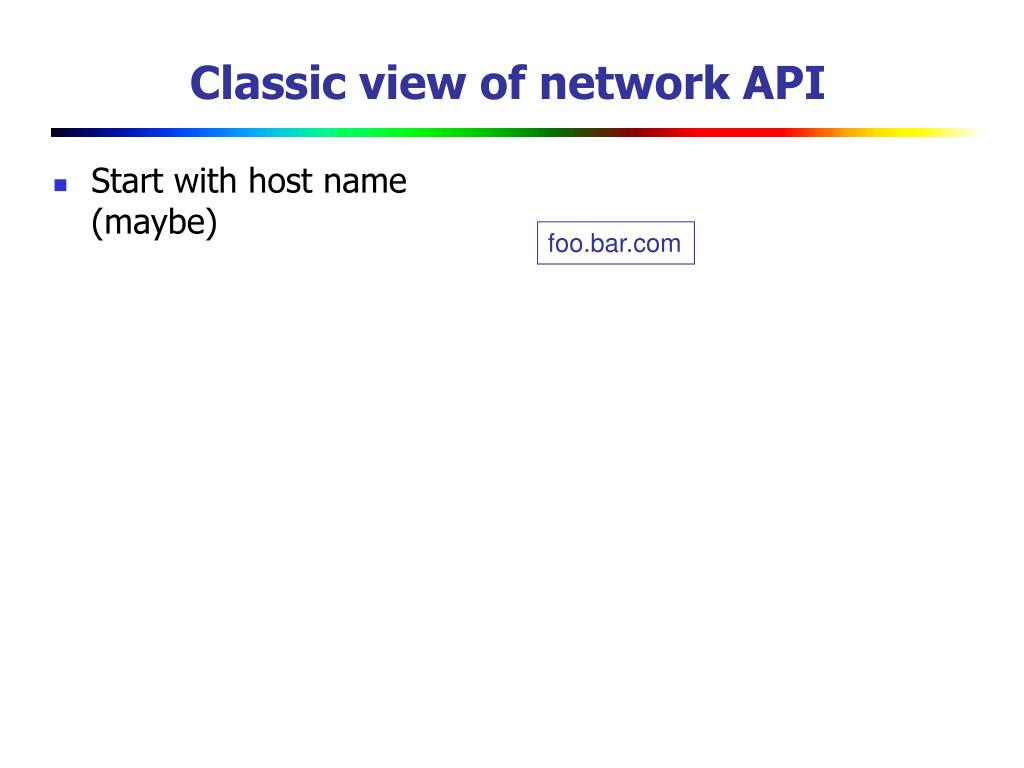 Start with host name (maybe)