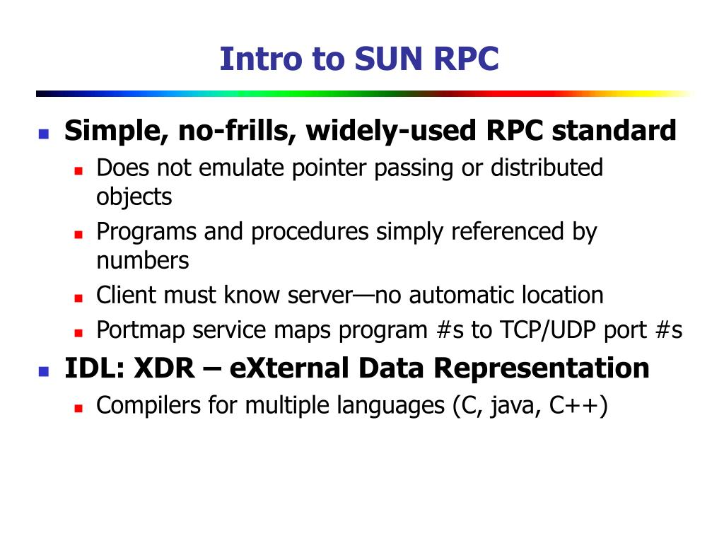 Intro to SUN RPC