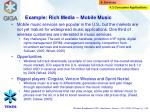 example rich media mobile music