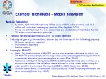 example rich media mobile television