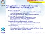 new applications and platforms for wireless broadband services and infrastructure