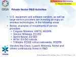 private sector r d activities