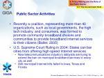 public sector activities