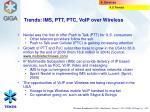 trends ims ptt ptc voip over wireless