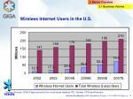 wireless internet users in the u s