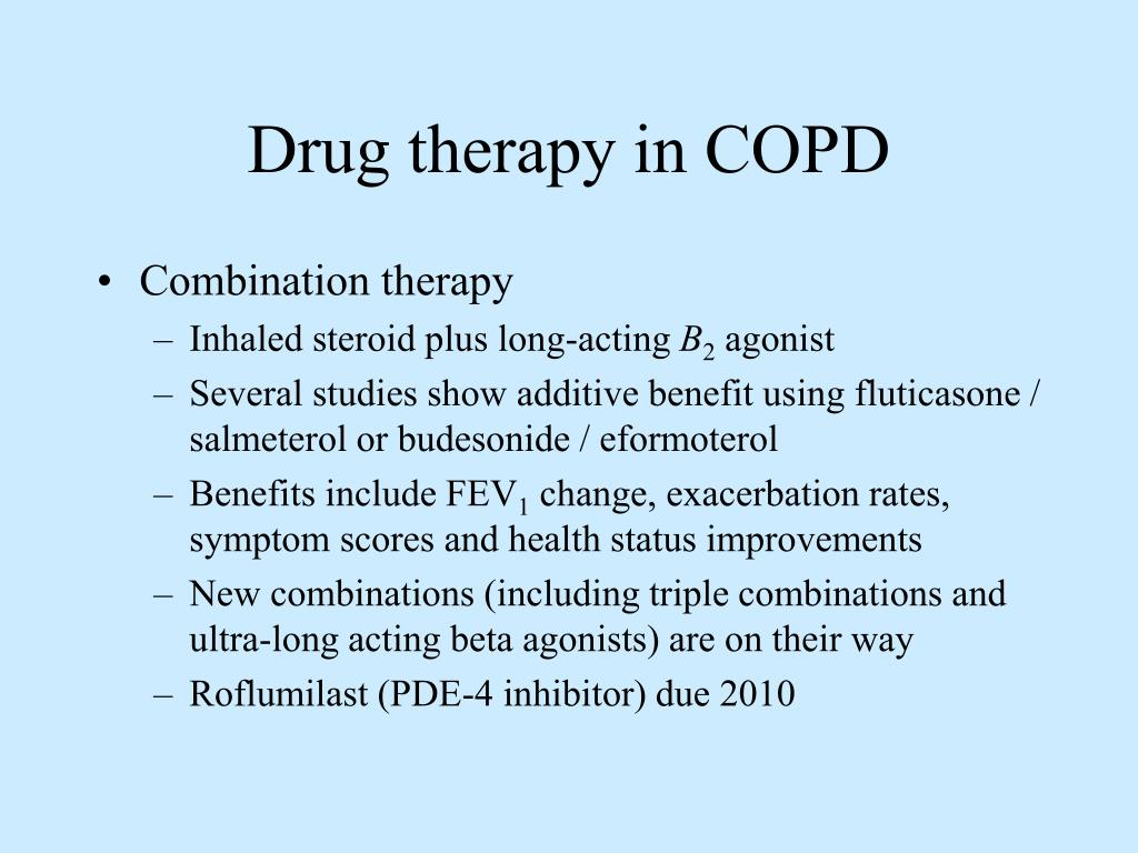 Drug therapy in COPD