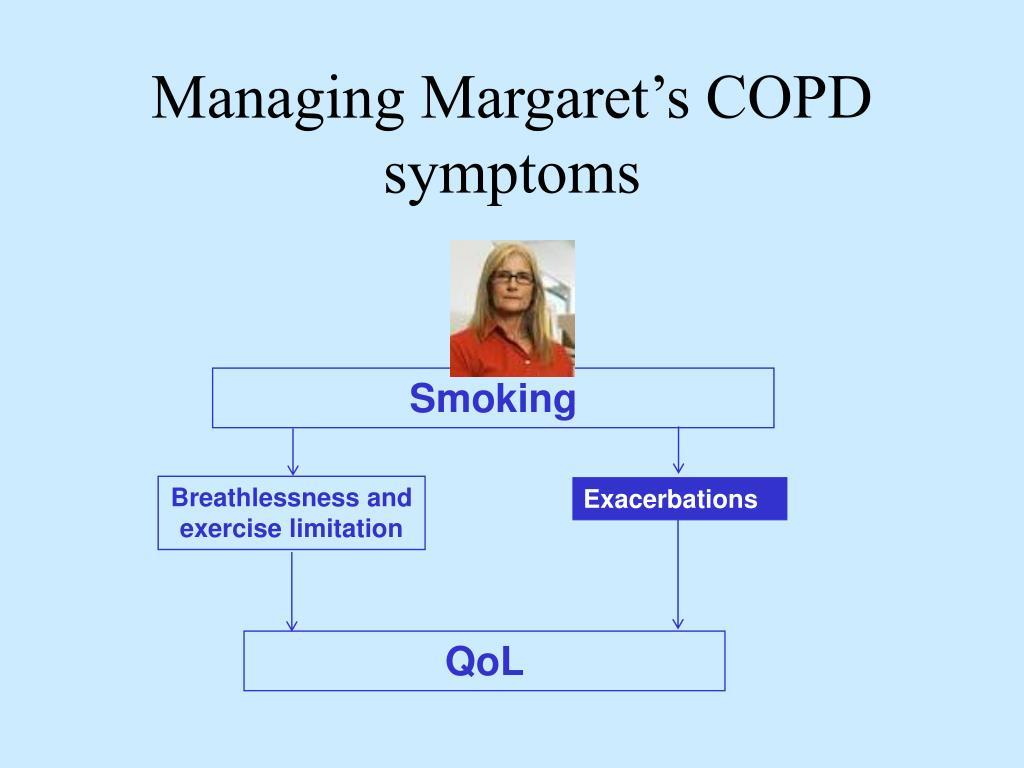 Managing Margaret's COPD symptoms