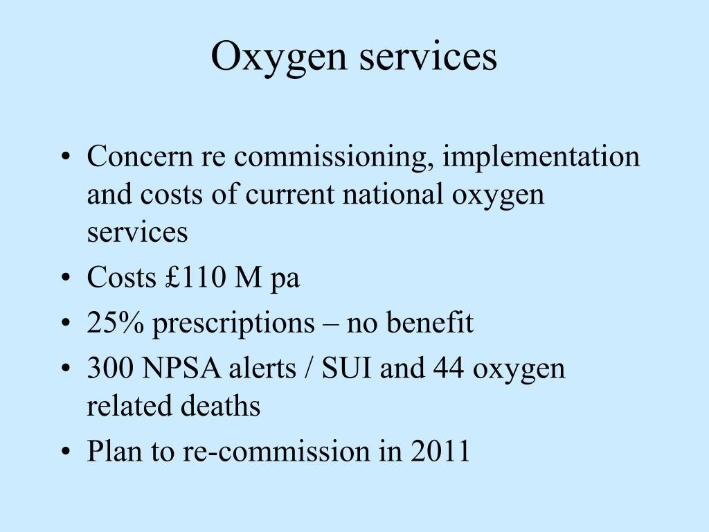 Oxygen services