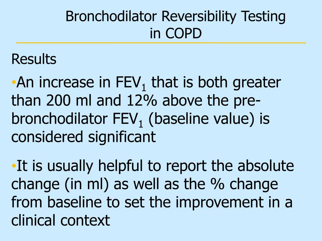 Bronchodilator Reversibility Testing in COPD