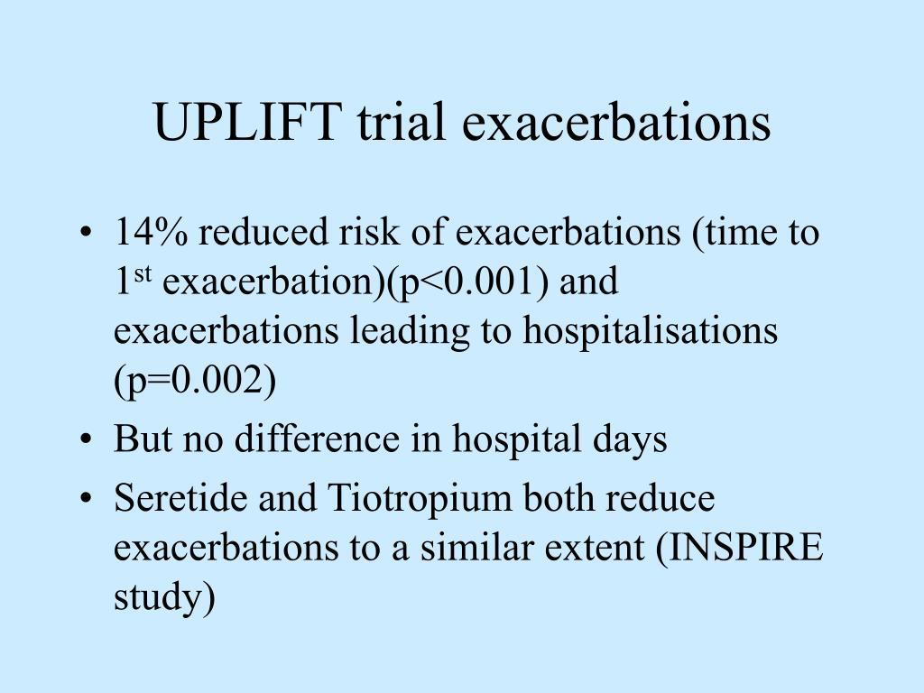 UPLIFT trial exacerbations