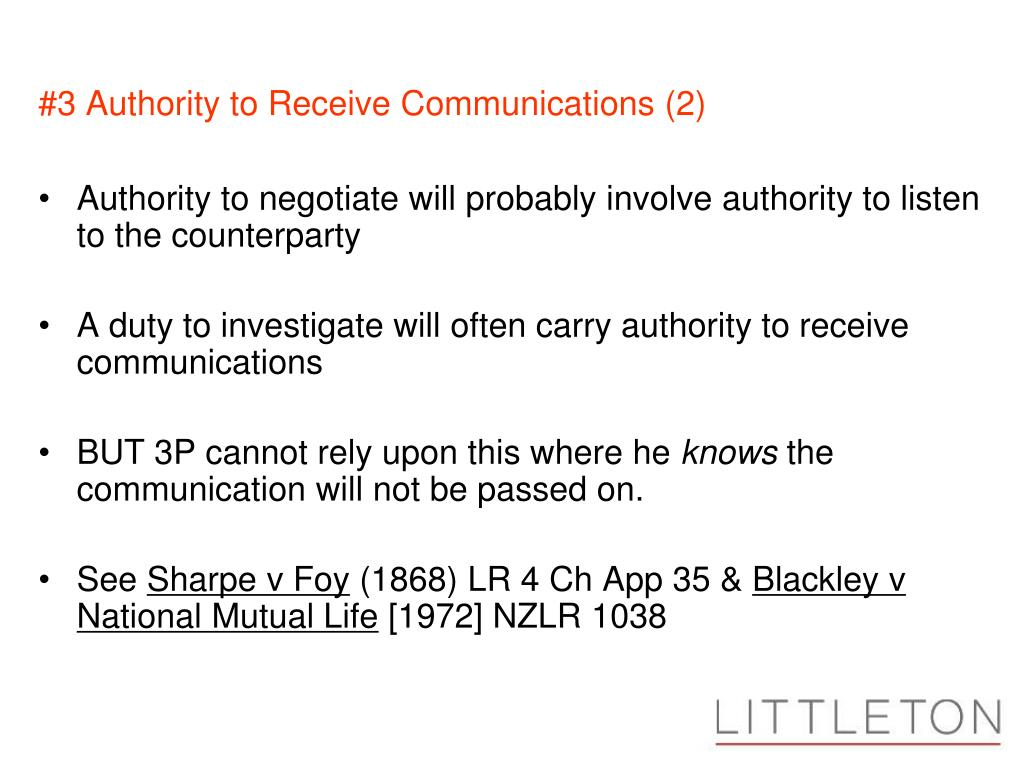#3 Authority to Receive Communications (2)