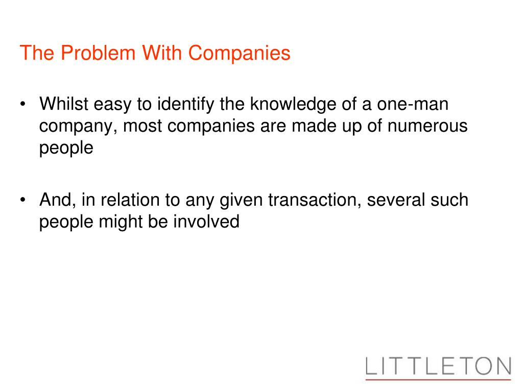 The Problem With Companies