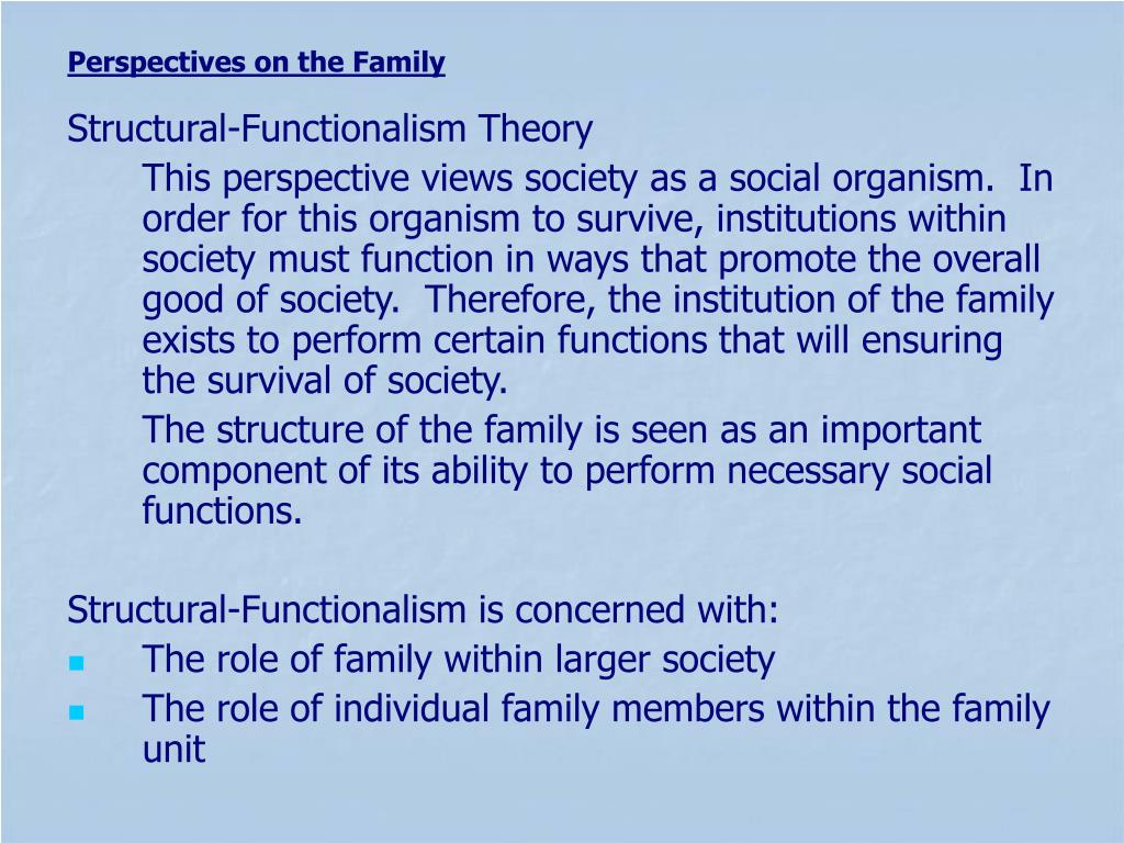 Structural-Functionalism Theory