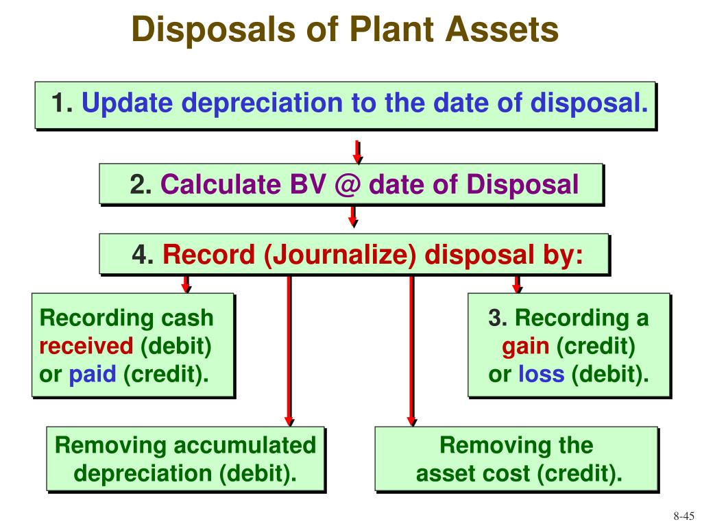 Disposals of Plant Assets