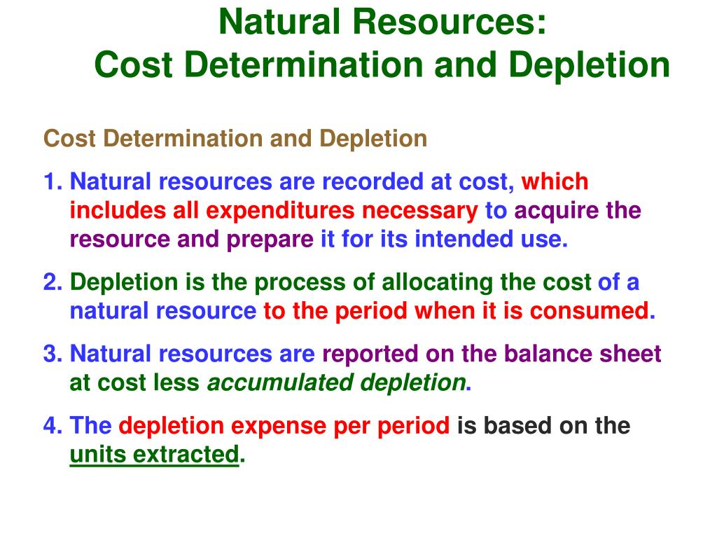 Natural Resources: