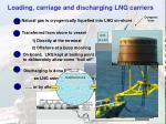 loading carriage and discharging lng carriers