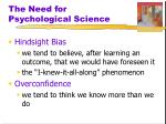 the need for psychological science1
