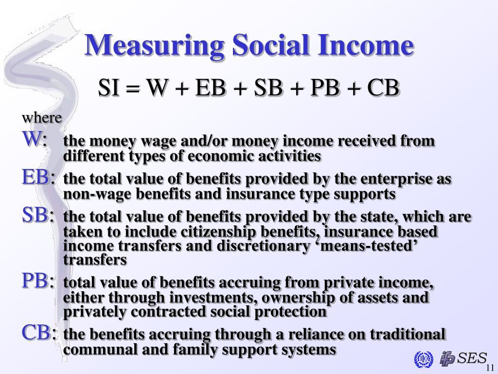 Measuring Social Income