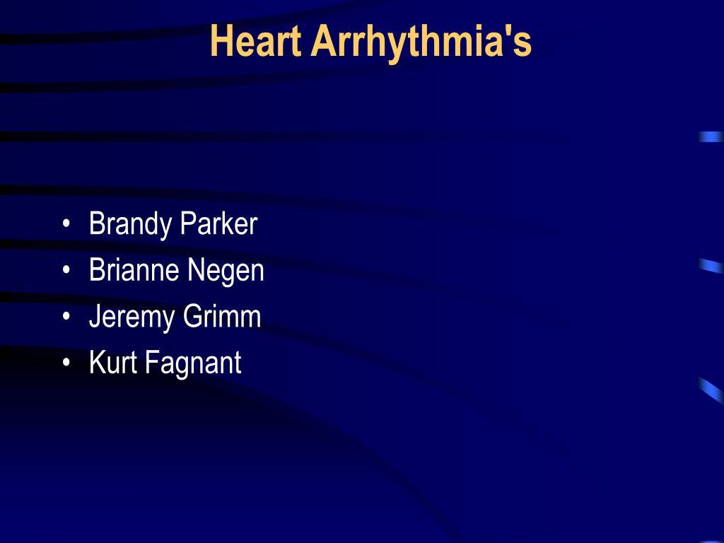 heart arrhythmia s l.