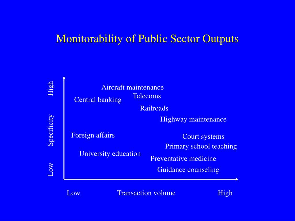 Monitorability of Public Sector Outputs