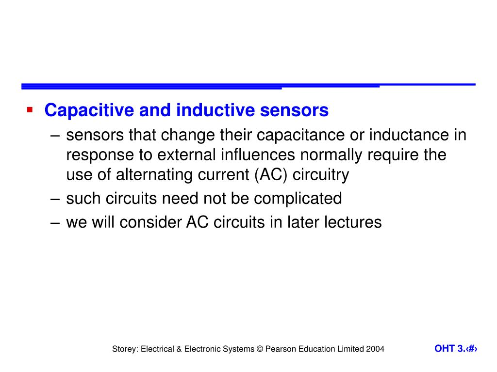 Capacitive and inductive sensors