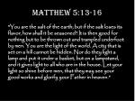 matthew 5 13 16