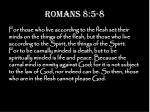 romans 8 5 8