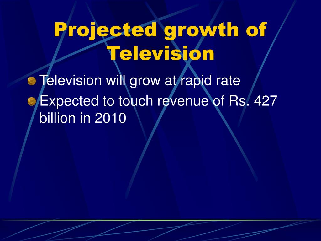 Projected growth of Television