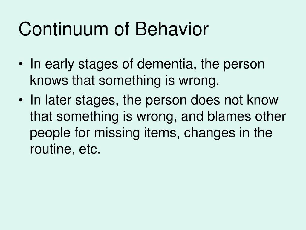 Continuum of Behavior
