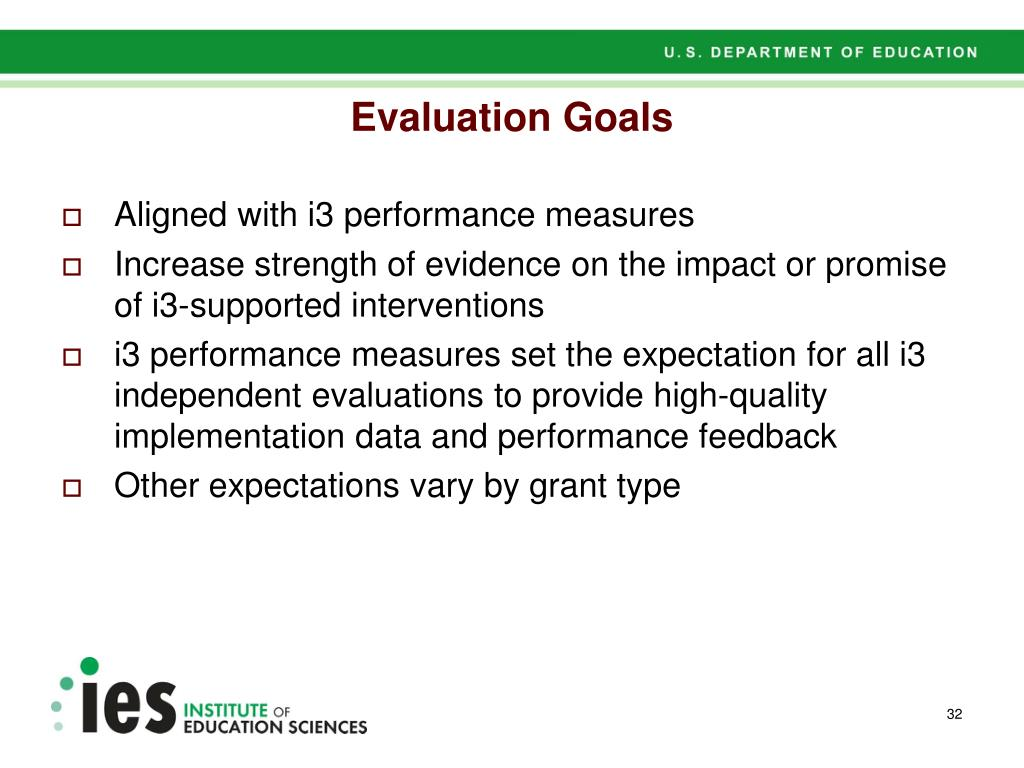 Evaluation Goals