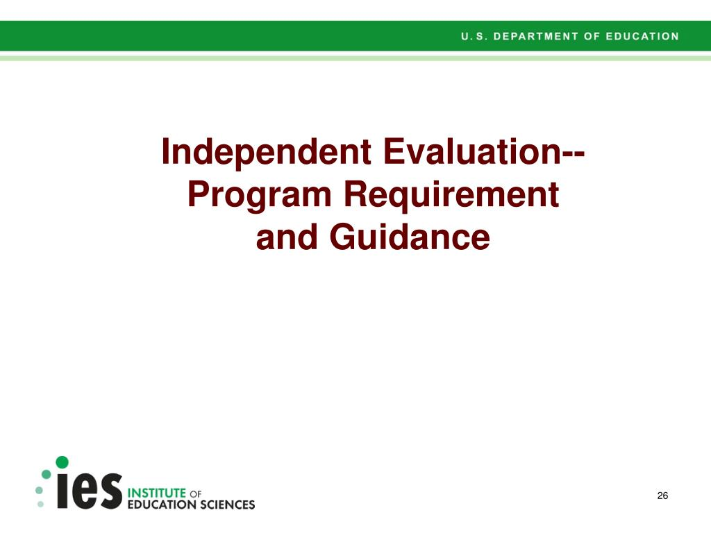 Independent Evaluation--