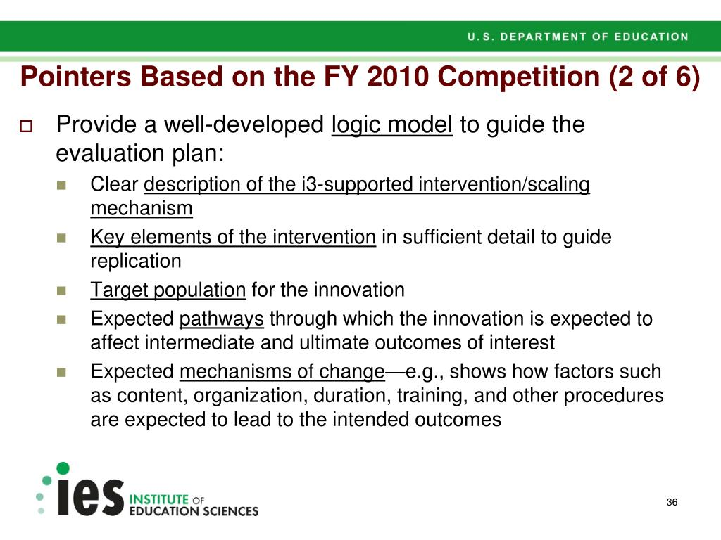 Pointers Based on the FY 2010 Competition (2 of 6)