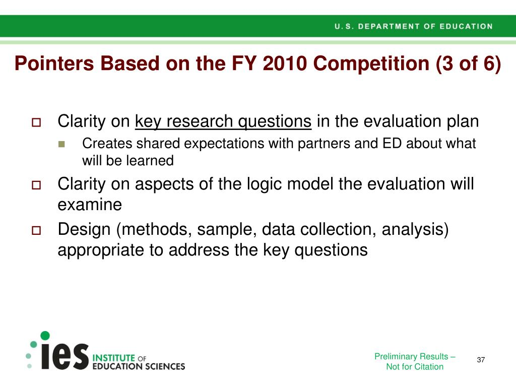 Pointers Based on the FY 2010 Competition (3 of 6)