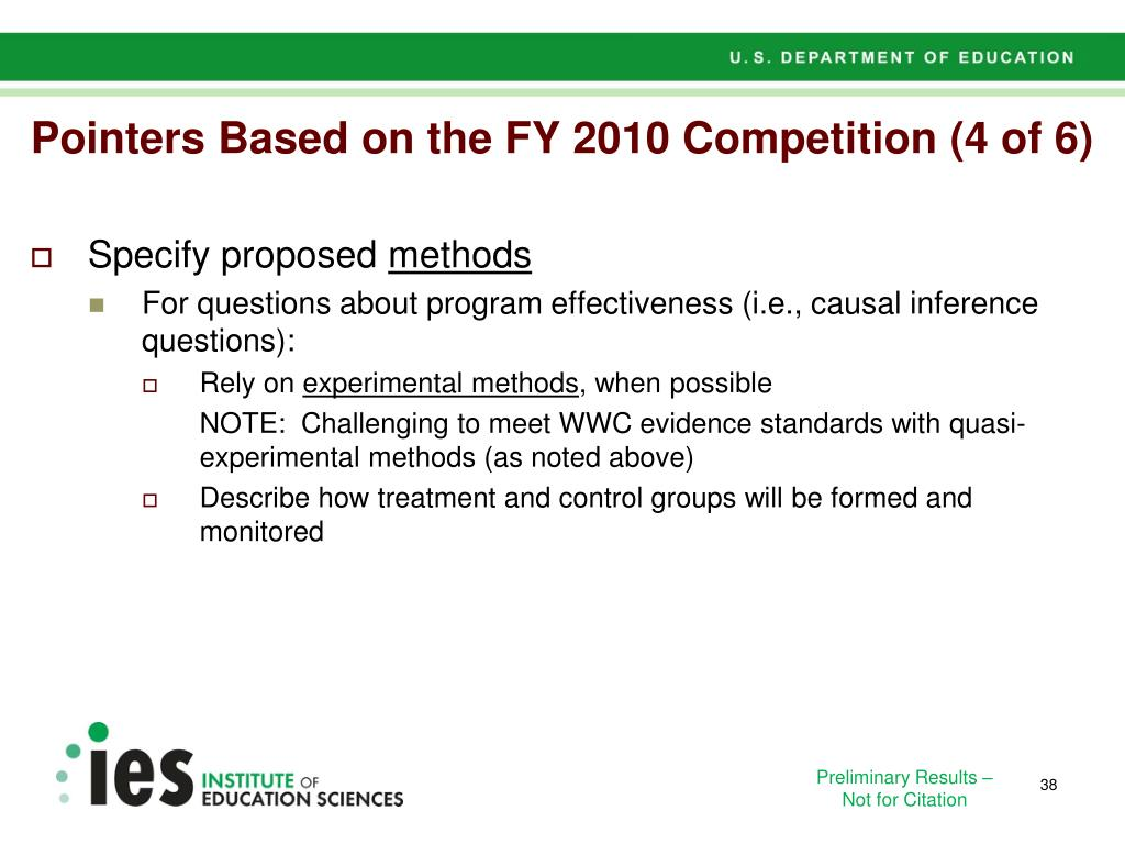 Pointers Based on the FY 2010 Competition (4 of 6)