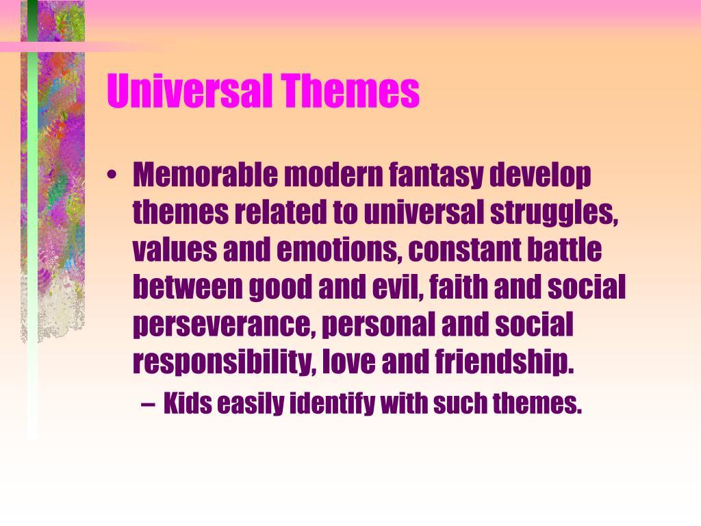 Universal Themes
