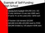example of self funding high school6