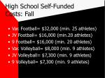 high school self funded costs fall