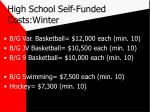 high school self funded costs winter