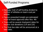 self funded programs