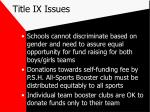 title ix issues