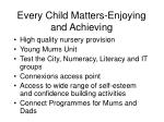 every child matters enjoying and achieving
