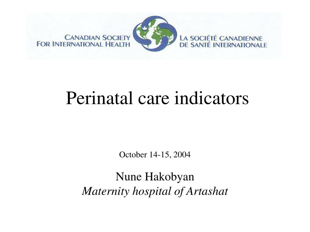 perinatal care indicators l.